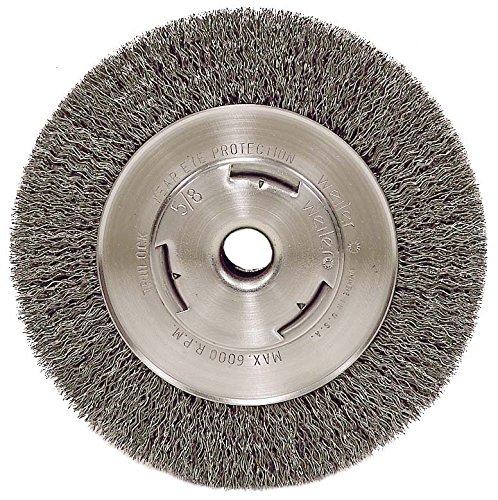 Weiler 6655 Vortec Pro 7 Wide Face Bench Grinder Wheel 014 Crimped Steel Wire Fill 58 Arbor Hole
