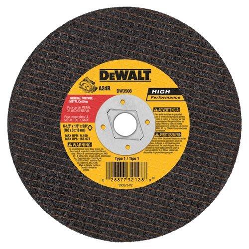 DEWALT DW3508 6-12-Inch by 18-Inch by 58-Inch A24R Abrasive Metal Cutting Wheel