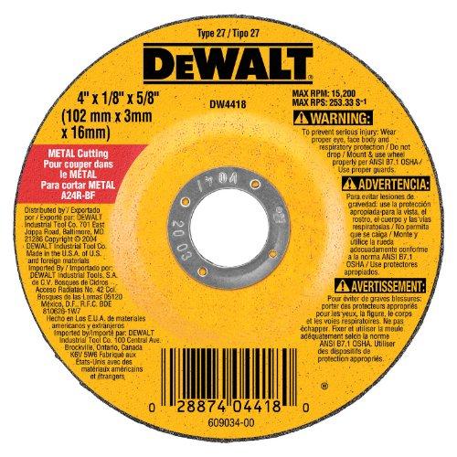 DEWALT DW4418 4-Inch by 14-Inch by 58-Inch General Purpose Metal Cutting Wheel