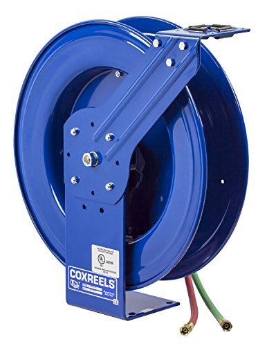 Coxreels SHWTL-N-1100 Dual Hose Spring Rewind Hose Reel for T grade hose 14 ID 100 hose capacity less hose 200 PSI