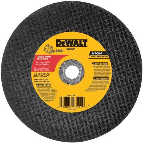 DEWALT DW3511B5 7-Inch High Performance Metal Cutting Abrasive Saw Blades 5-Pack