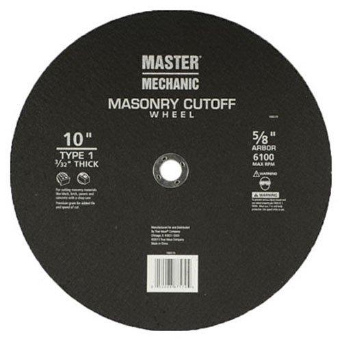 Master Mechanic 160519  10 -Inch x 32 -Inch Masonry Abrasive Blade