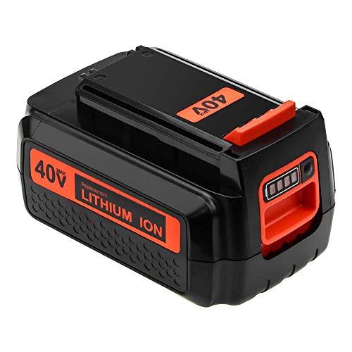 Forrat 2500mAh Replace for Black and Decker 40V Lithium-ion Battery MAX LBX2040 LBX1540 LBXR2036 LBX36 LBXR36 LCS1240 LSWV36 36V 40V Cordless Tool Battery-1Pack