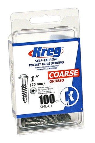 Kreg SML-C1-100 Pocket Screws - 1-Inch 8 Coarse Washer-Head 100ct