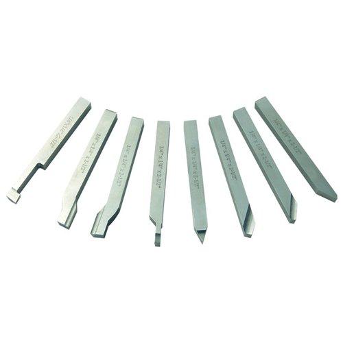 TTC 8 Piece High Speed Steel Lathe Tool Set - Overall Length  4