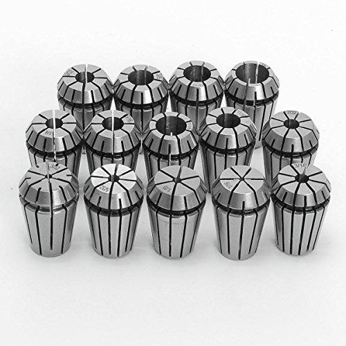 XNEMON 14 PCS ER20 Spring Collet Set 116-12 CNC Super Precision 18 14 38 US for CNC Engraving Machine Milling Lathe Tool