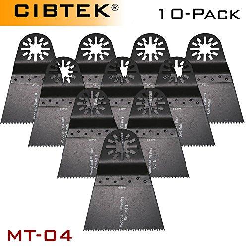 10 Pcs Wide Segmented Oscillating Multi Tool Saw Blades for Fein Multimaster Bosch Craftsman Dremel Multi-max Ridgid Chicago Wood Metal