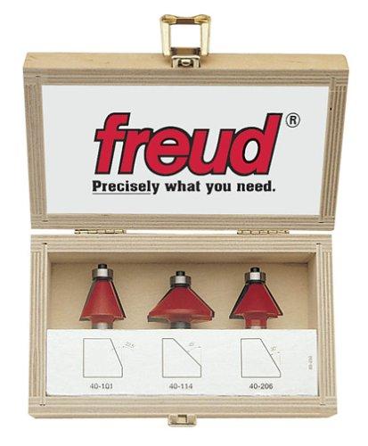 Freud 89-250 3-Piece Chamfer Router Bit Set