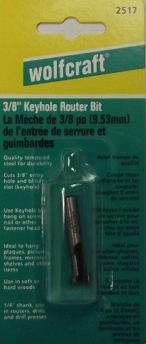 Wolfcraft 38 Keyhole Router Bit 14 Shank 2517