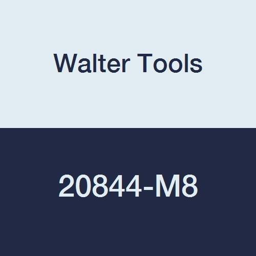 Walter Tools 20844-M8 AMB INOX HSS Automatic Nut Tap NID Finish 61 mm Shank Diameter 125 mm Thread Length 30 mm Cutting Length 271 mm Overall Length M8 Cutting Diameter