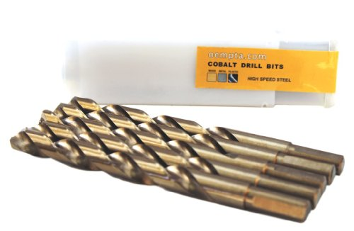 38-Inch Cobalt Twist Drill Bit Split Point 5 Pack