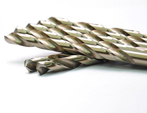 DRILLFORCE 5PCS 2364 Inch HSS Jobber Cobalt Twist Drill Bitsideal for drilling on mild steel copper Aluminum Zinc alloy etc