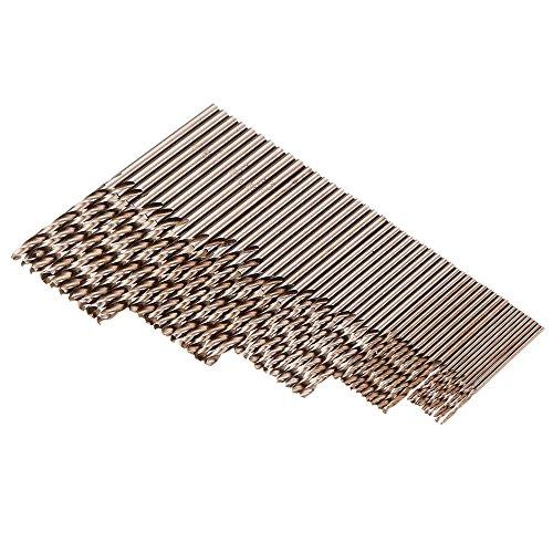 WCHAOEN 50pcs 1152253mm HSS M35 Cobalt Twist Drill Bit Accessories Tool