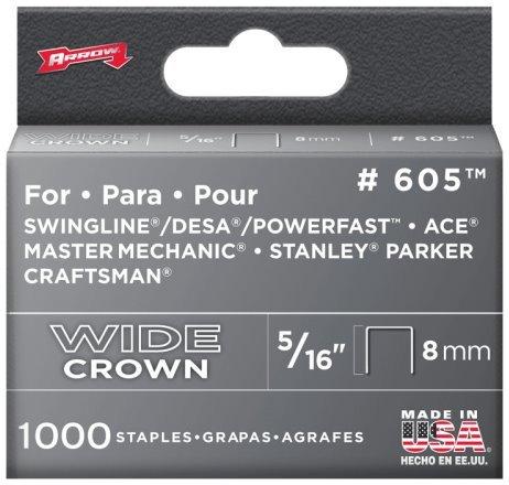 Arrow Fastener 60530 516 Wide Crown Heavy Duty Staples