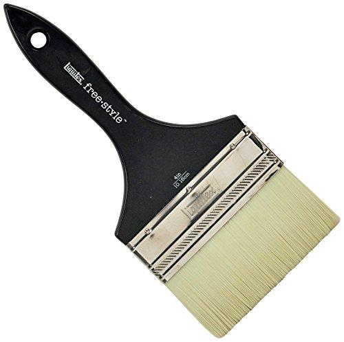 Liquitex 1300704 Professional Freestyle Large Scale Brush Broad FlatVarnish 4-inch Short Handle Multi