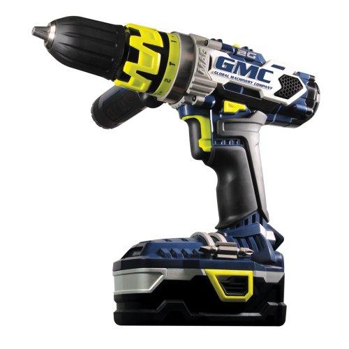 GMC 2G18H2L1B Lithium Ion Cordless DrillDriver Kit