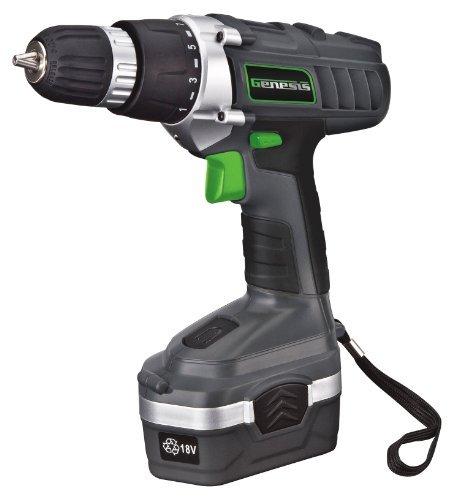 Genesis GCD18BK 18v Cordless DrillDriver Kit Grey by Genesis