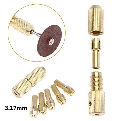 SCASTOE 10Pcs 05-32mm Micro Twist Hand Drill Kit Chuck Electric Drill Bit Collet 2mm