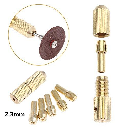 SCASTOE 5Pcs 05-30mm Micro Twist Hand Drill Kit Chuck Electric Drill Bit Collet 2mm