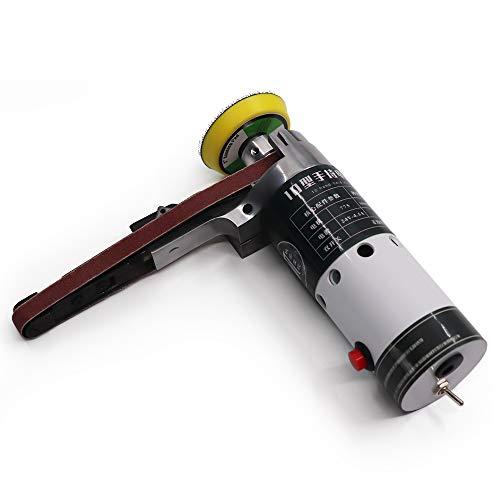 Festnight Electric Belt Sander Mini Belt Sander Electric Grinder Small Grinding Machine Hand-held Electric Belt Sander with Sanding Belts Tool Case Grinding Heads