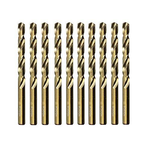 M35 HSS Metric Twist Drill Bits 65mm14 Cobalt Spiral Drill Bits Round Shank for Wood Plastic and Metal Sheet
