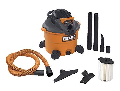RIDGID Wet Dry Vacuums VAC1200 Heavy Duty Wet Dry Vacuum Cleaner and Blower Vac 12-Gallon 50 Peak Horsepower Detachable Leaf Blower Vacuum Cleaner with Pro-Grade Hose