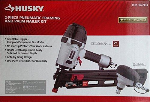 Husky Pneumatic 21-Degree Framing and Mini Palm Nailer Kit