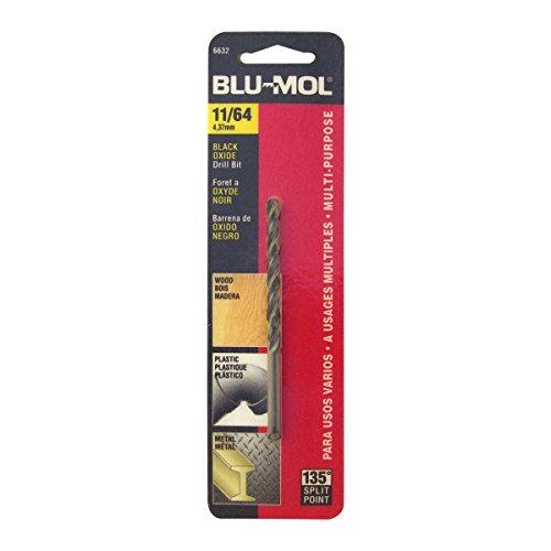 Disston E0101045 Carded Blu-Mol Black Oxide Jobber Drill Bits Diameter 1164-Inch