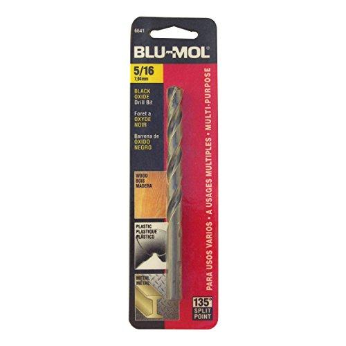 Disston E0101054 Carded Blu-Mol Black Oxide Jobber Drill Bits Diameter 516-Inch