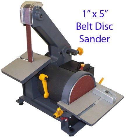 1 X 5 Belt Disc Sander Wood Metal Hobbyist 3600 RPM