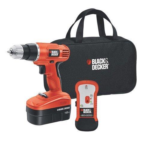 Black Decker GCO18SFB 18-Volt NiCad 38-Inch Cordless DrillDriver with Storage Bag and Stud Sensor