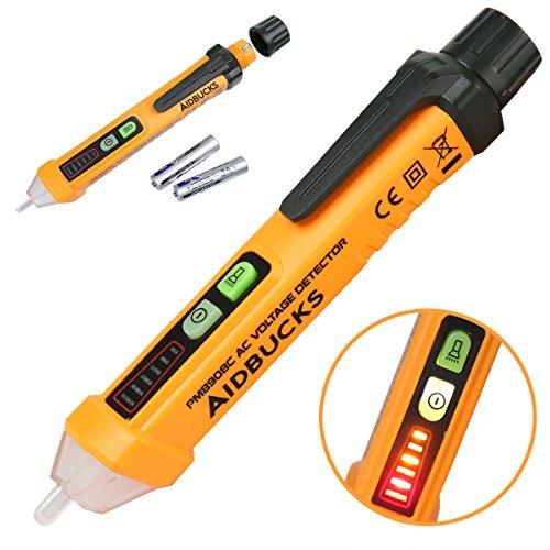 Voltage Tester Pen Non Contact Circuit Detector 12-1000V Breaker Finder AC Electric Volt Tester Pen Type Electrical Multimeter Tool Aidbucks PM8908C
