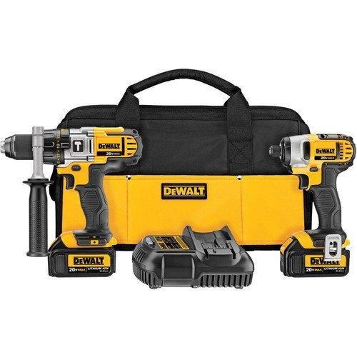 Dewalt DCK290L2R 20-volt MAX Li-Ion 30 Ah Hammer Drill and Impact Driver Combo Kit - Factory Serviced