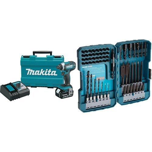Makita XDT111 30 Ah 18V LXT Lithium-Ion Cordless Impact Driver Kit with 70-Piece Impact Drill-Driver Bit Set