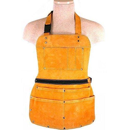 7 Pocket Leather Apron Construction Carpenter Tool Belt