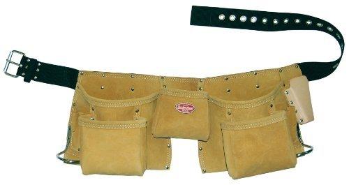 Bucket Boss 55149 11 Pocket Suede Leather Carpenter Apron by Bucket Boss