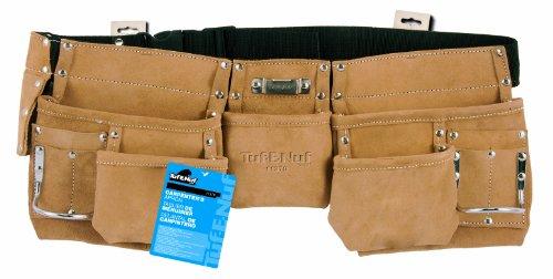 Task Tools 11370 Tuf-E-Nuf Carpenters Apron with Nylon Belt 5-Pocket