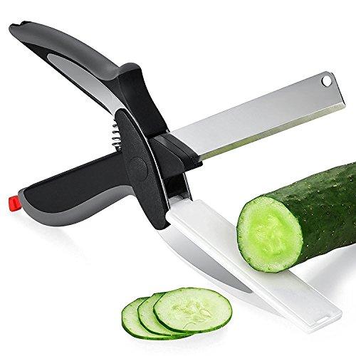 PONML Built-in Cutting Board Multipurpose Kitchen Scissors Kitchen Shears