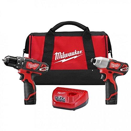 Milwaukee 2497-22 M12 Cordless Hammer Drill Impact Driver 2-tool Kit