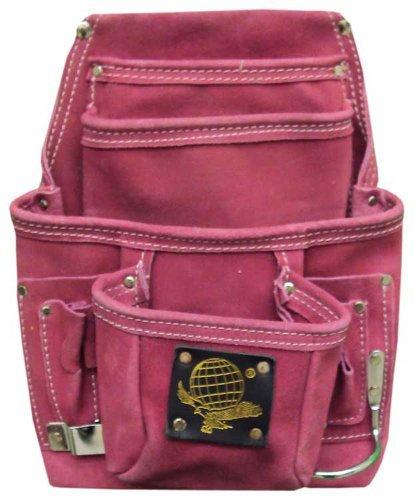 10 Pocket Tool Bag In Pink Suede by Hawk