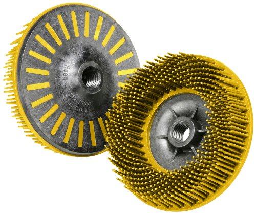 Scotch-BriteTM Bristle Disc Ceramic 12000 rpm 4-12 Diameter 80 Grit Yellow Pack of 10