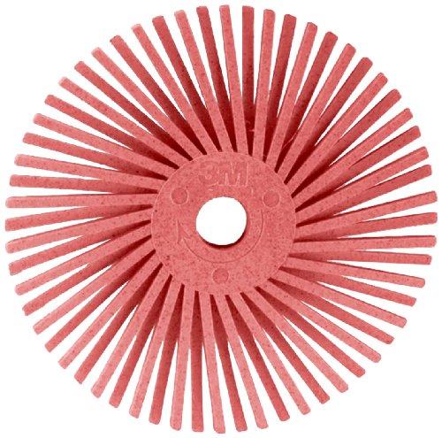 Scotch-BriteTM Radial Bristle Disc 35000 rpm 916 Diameter Pumice Grit Pink Pack of 48
