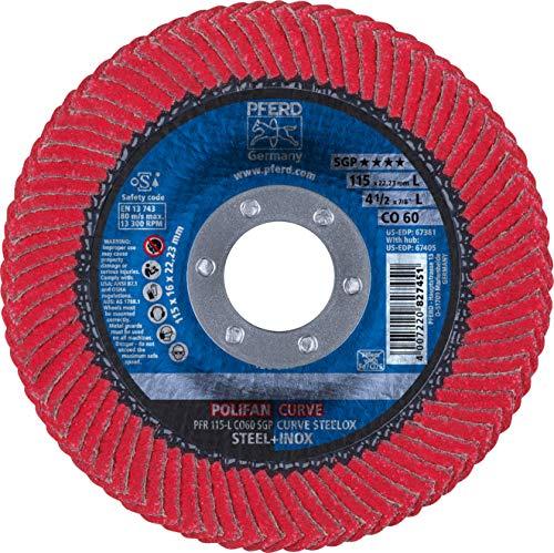 4-12 x 78 POLIFAN Curve Flap Disc SGP Ceramic Oxide 60 Grit Large Radius