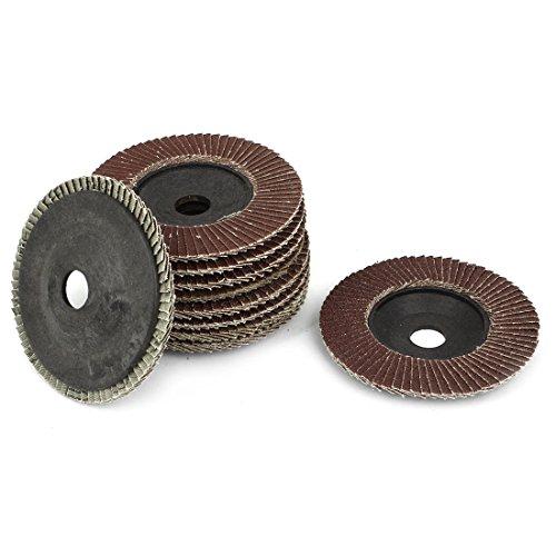 4-inch x 58-inch Sanding Flap Disc Grinding Wheel 320 Grit 10 Pcs