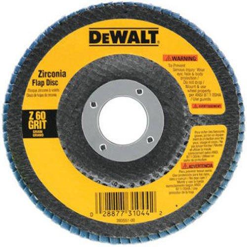 DEWALT DW8309 4-12 x 78 80 Grit Zirconia Angle Grinder Flap Disc
