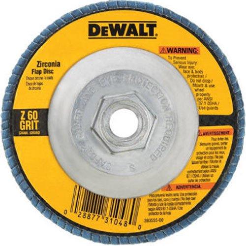 DEWALT DW8313 4-12-Inch by 58-Inch-11 80 Grit Zirconia Angle Grinder Flap Disc