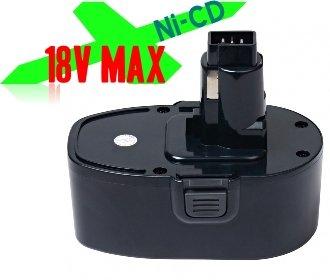 Battery Pack For Cordless Power Tool Drill Sanders  DeWALT DC9096 DE9039 DE9095 DE9096 DE9098 DW9095 DW9096 DW9098 DE9503 ELU EZWA 90 BLACK DECKER PS145 18V Ni-CD 15Ah Black