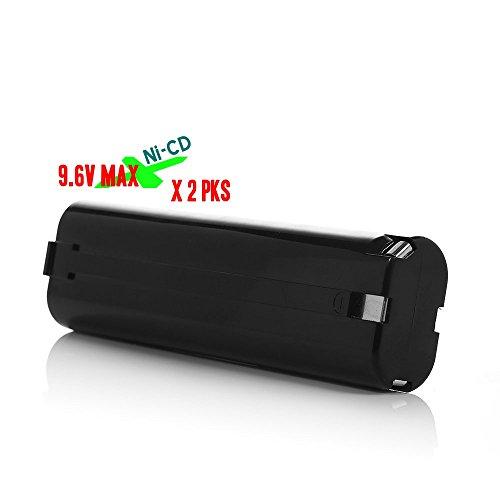 Battery Pack For Cordless Power Tool Drill Sanders Screwdrivers  Makita 9000 9001 9002 9003 9033 9600 1916812 1925330 6320074 192533-0 632007-4 191681-2 632007-4 96V Ni-CD 15Ah Black