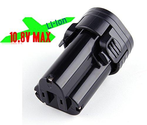 Battery Pack For Cordless Power Tools Drill Saw Pencil Vibrator Kit Hammer Kit Sanders Screwdrivers Makita 194550-6 194551-4 BL1013 BL1014 LCT203W 108V Lithium-ion 15Ah Black