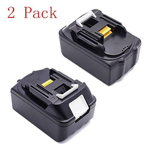 Flylinktech Makita BL1830-2 18-Volt 3000mAh 30Ah LXT Li-ion Lithium Replacement Power Tools Drill Rechargeable Battery For Makita BL1830 Bl1815 18-Volt 30 AH Battery Compatible with Makita 194205-3 LXT-400 BL1830 BL1815 BL18352-Pack 3000mAh